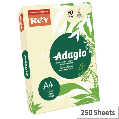 Adagio Pastel Ivory A4 Card Paper 160gsm Ivory Pack of 250
