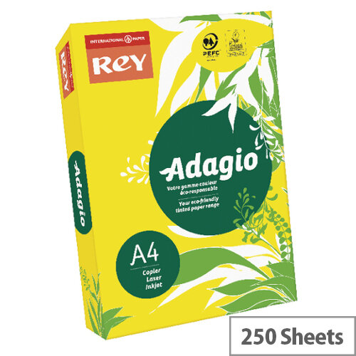 Adagio Intense Deep Yellow A4 Card Paper 160gsm Pack of 250