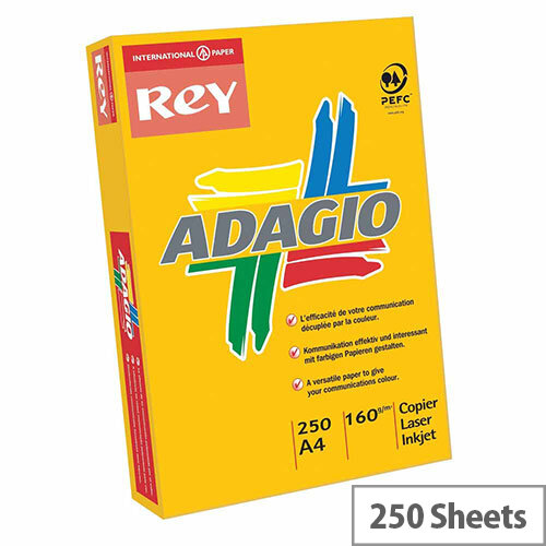 Adagio Intense Orange A4 Card Paper 160gsm Pack of 250