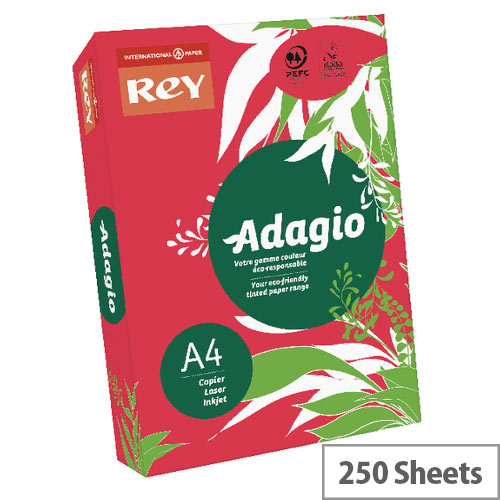 Adagio Intense Deep Red A4 Card Paper 160gsm Pack of 250