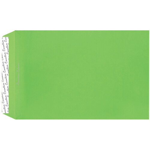 C4 Pocket Envelope Peel and Seal 120gsm Lime Green Pack of 250 407P
