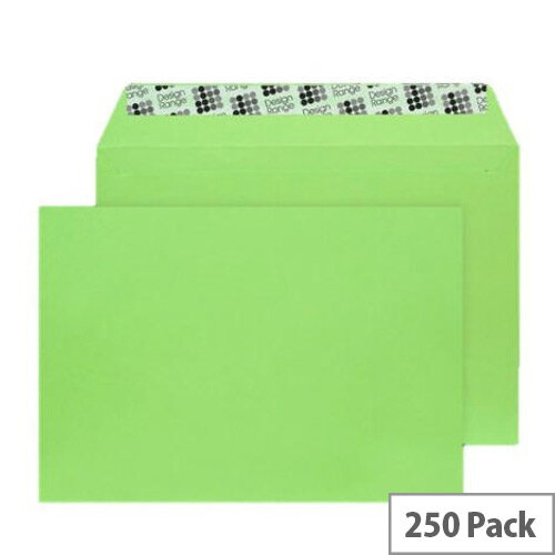 Blake C5 Wallet Envelope Peel And Seal 120gsm Pk 250 Lime Green 307