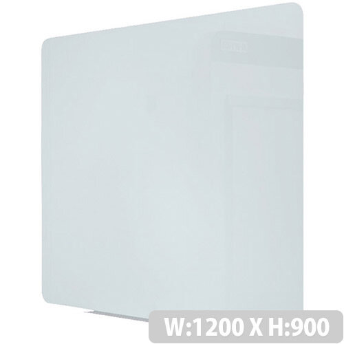 Bi-Office Magnetic Glass Drywipe Board 1200 x 900mm Frameless GL080101
