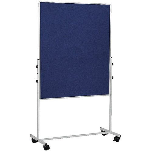 Bi-Office Mobile Felt Board 1500 x 1200mm Blue EA8327075