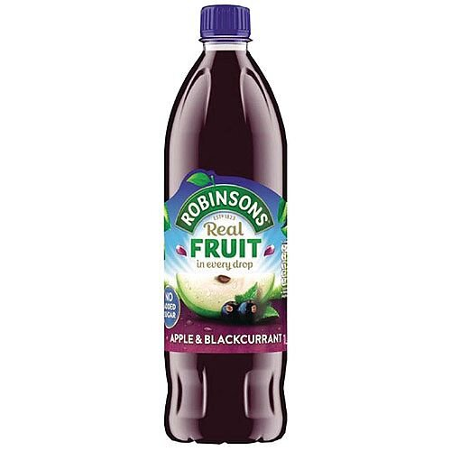Robinsons Apple/Blackcurrant Squash No Sugar 1 Litre 4158 Dilute With Water Concentrated Cordial