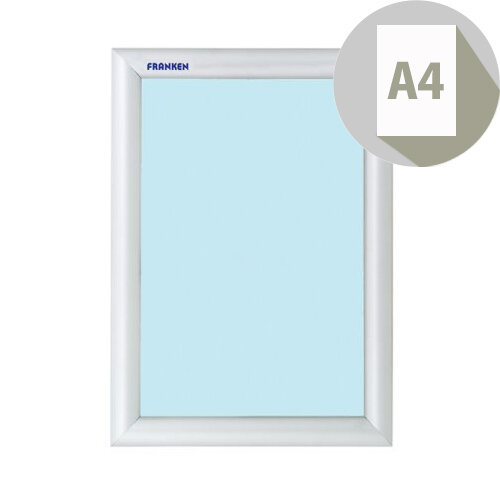 Franken A4 Exterior Wall Mount Aluminium Snap Frame Posters &Notices, Weather- &Water- Resistant, Easy &Quick To Change Media Displayed