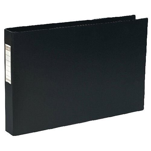 Elba 4D-Ring Binder PVC A3 30mm Oblong Black