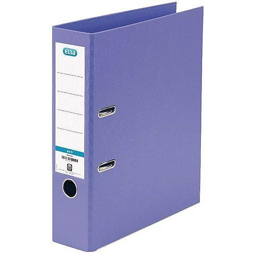 Elba PVC A4 70mm Purple Lever Arch File 100202167