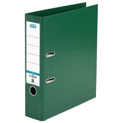 Elba PVC A4 Upright 70mm Green Lever Arch File 100202174