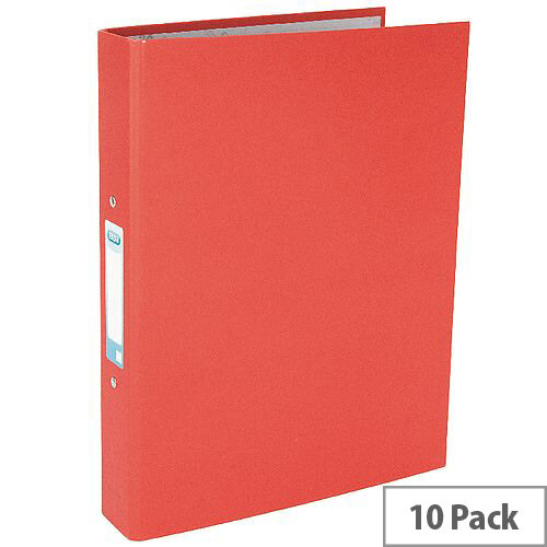 Elba Red Paper-over-Board Ring Binder Pack of 10 400033497