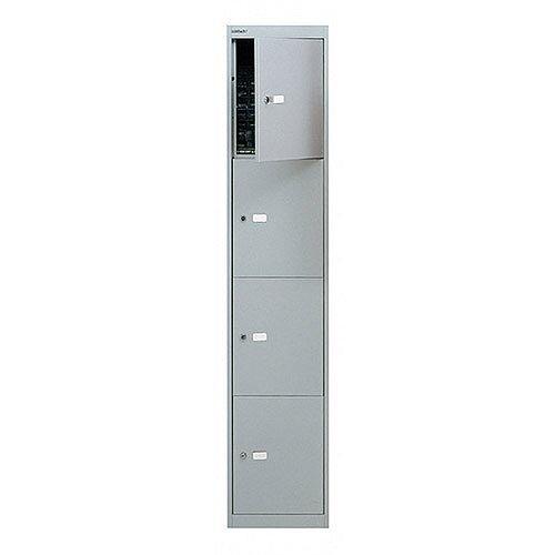 Bisley 4 Door Locker W305xD305xH1802mm Goose Grey BY09213
