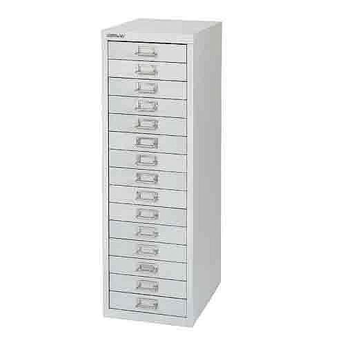 Bisley Non-Locking Multi-Drawer Cabinet 15 Drawer Silver BY58420