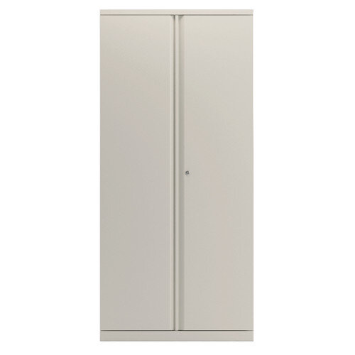 Bisley 2 Door Cupboard Chalk White 1985mm Supplied Empty