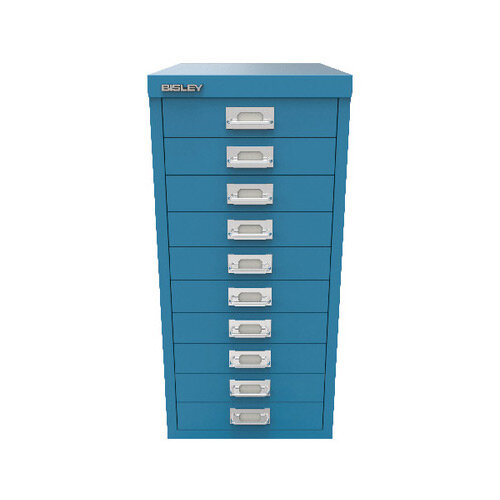 Bisley 29 10 Non-Lock Multidrawer Azure Blue BY78740