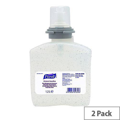 Purell Hygienic Hand Sanitizer Refills for TFX Dispenser 1200ml Pack of 2