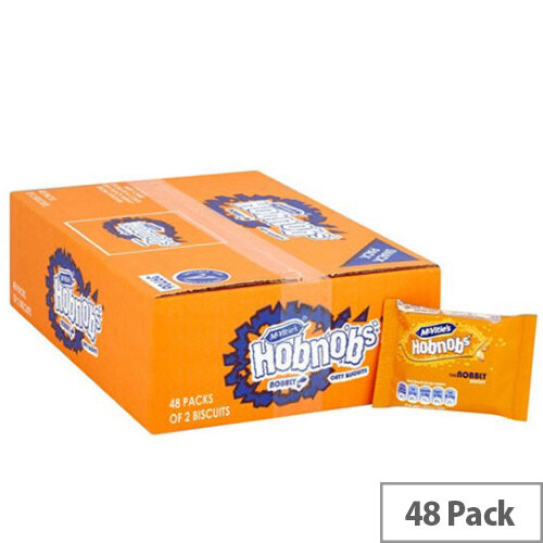 McVities Hob Nobs Oat Biscuits Individually Wrapped in Two Biscuits Pack of 48 A07383