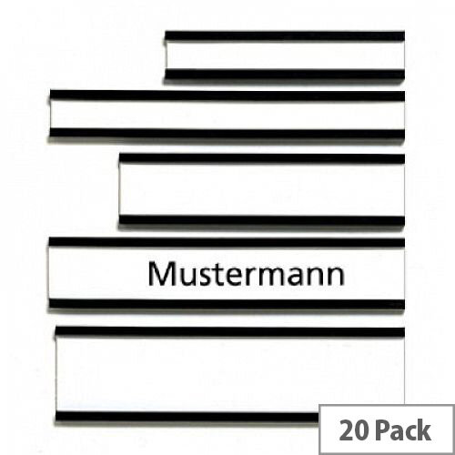 Franken Magnetic Name Plates 50 x 10mm Brown Pack of 20 C114