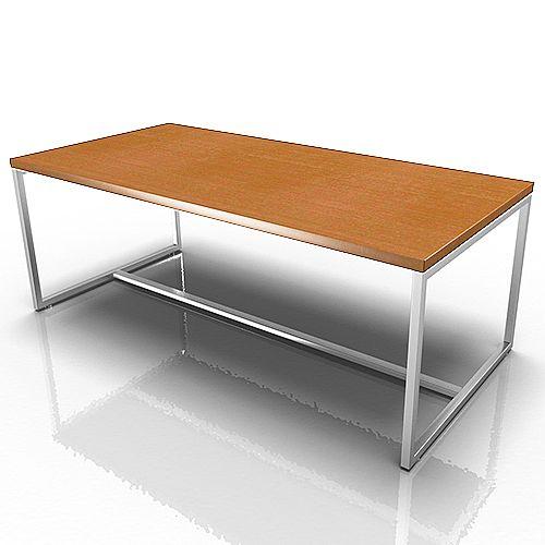 Rectangular Reception Coffee Table Walnut