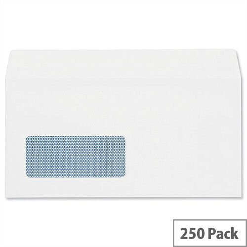 Plus Fabric White DL Window Envelopes Self Seal Wallet 110gsm Pack of 250