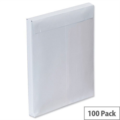 Plus Fabric Gusset C4 Envelopes White Peel and Seal 120gsm Pack of 100
