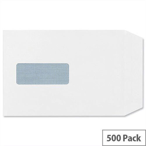 Plus Fabric C5 White 110gsm Envelopes Pocket Self Seal Window Pack 500