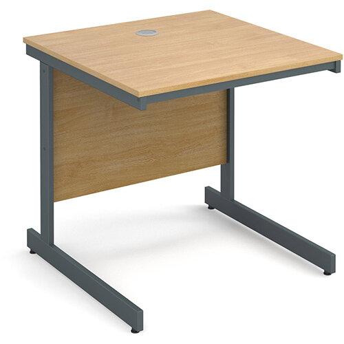 Maestro cantilever leg straight desk 754mm - oak