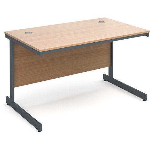 Maestro cantilever leg straight desk 1228mm - beech