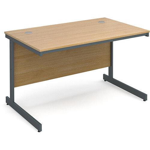 Maestro cantilever leg straight desk 1228mm - oak