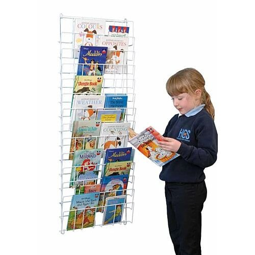 Vertical Wall Hanging Book Rack White