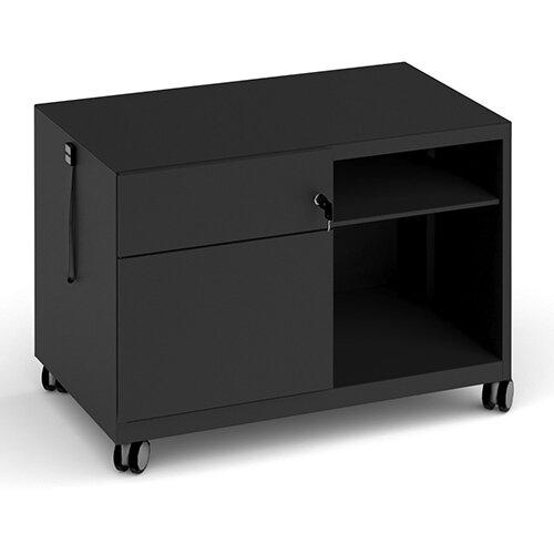 Bisley steel caddy left hand storage unit 800mm - black