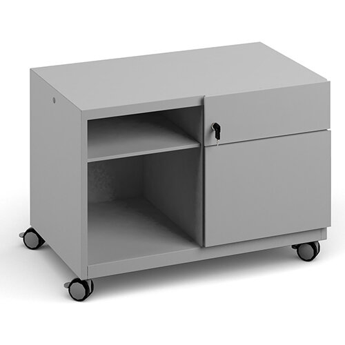 Bisley steel caddy right hand storage unit 800mm - goose grey