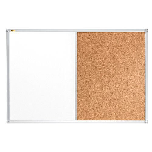 Franken ValueLine Magnetic Combination Board Lacquered/Cork Surface 1200x900mm CB3403