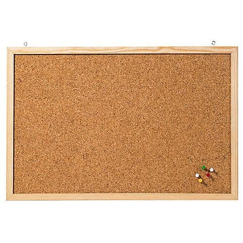 Franken Cork Board Wooden Frame 400 x 300mm CC-KT3040E