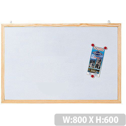 Magnetic Whiteboard Wooden Frame H600 x W800mm Franken CC-MM6080 E