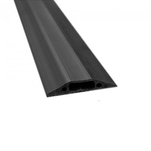 1.8m Black Cable Cover Protector Cavity 30mmx10mm