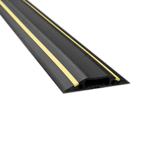 1.8m Black/Yellow Cable Cover Cavity 30mmx10mm