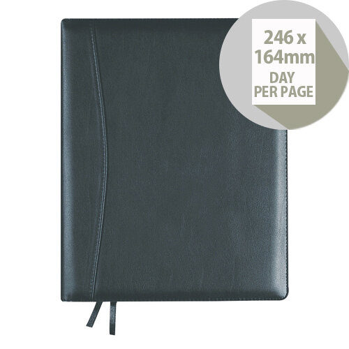 Collins Elite Executive Day Per Page 2020 Diary Black 1100V