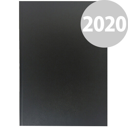 Collins A4 Desk Diary Week to View 2020 Black 40