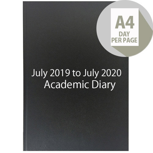 Collins A4 Academic Diary Day Per Page Appointment 2019-2020 Assorted 44M
