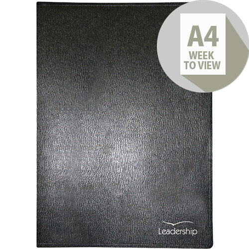 Collins A4 Leadership Diary Week to View Appointment 2020 Black CP6740