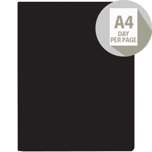 Collins A4 Leadership Diary Day Per Page Appointment 2020 Black CP6743