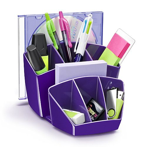 Ceppro Gloss Desk Tidy Purple 580G Purple
