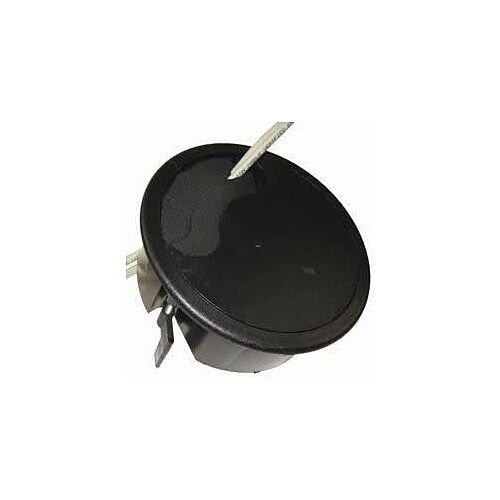 Black Floor Grommet with Gasket Fitted Cut-Out: 127mm