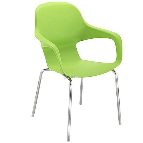 Ariel 2 Canteen &Breakout Chrome Leg Chair Green