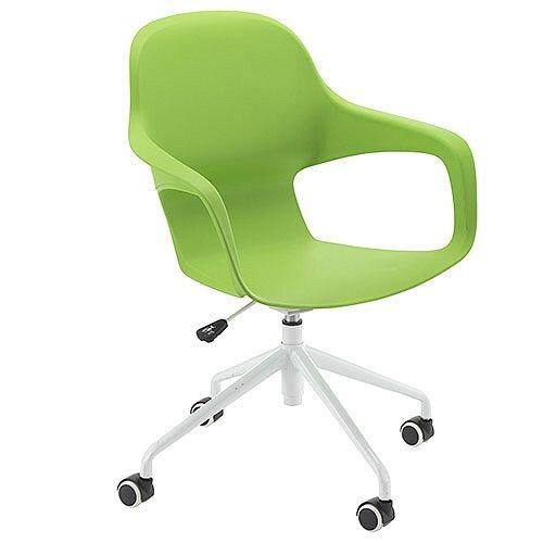Ariel 2 Modern Design Spider Base Chair Green
