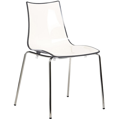 Gecko Anthracite Shell Canteen &Breakout Stacking Chair with White Legs