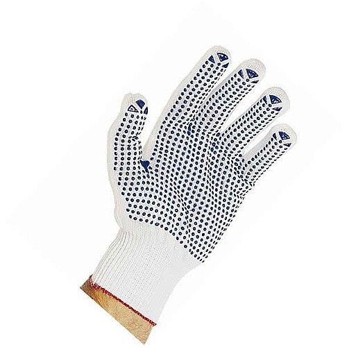 Polyester Pick &Go Polka Dot Gloves White Pair of 1