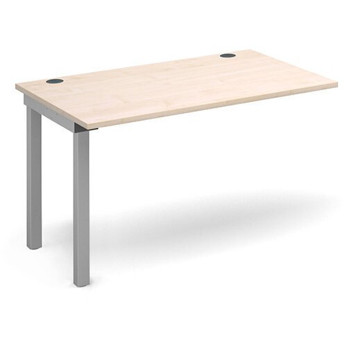 Connex add on unit single 1200mm x 800mm - silver frame, maple top