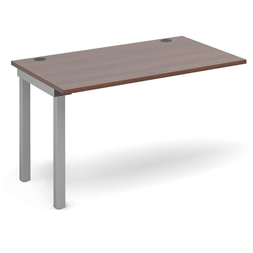 Connex add on unit single 1200mm x 800mm - silver frame, walnut top