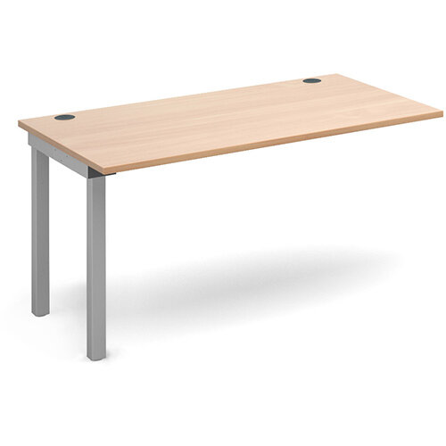Connex add on unit single 1400mm x 800mm - silver frame, beech top